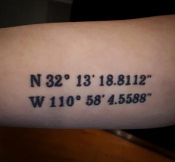 """32°13'18.8""""N 110°58'04.6""""W"""